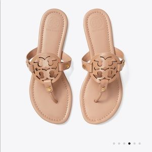 NEW!!! Tory Burch Miller Tan Leather Sandals